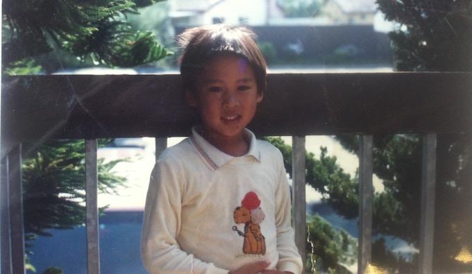 Me age 8 or so in California. 我在加州8歲左右的時候。