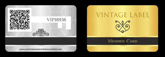 Your Key to the Vintage Label Wine Cellar (sample only).  All backers who earn a key to the wine cellar will be sent one of these cards that will give them exclusive access to the Royal Reserve Decks online by scanning the Q code on the back and then entering their unique keycode.