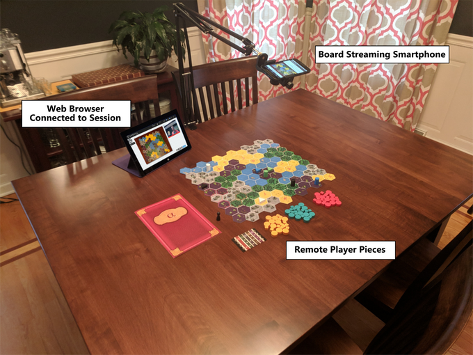 Setting up a game of Cryptid using one smartphone