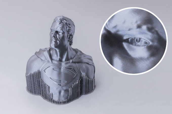 Superman was successfully printed in one session over about 118 hours.