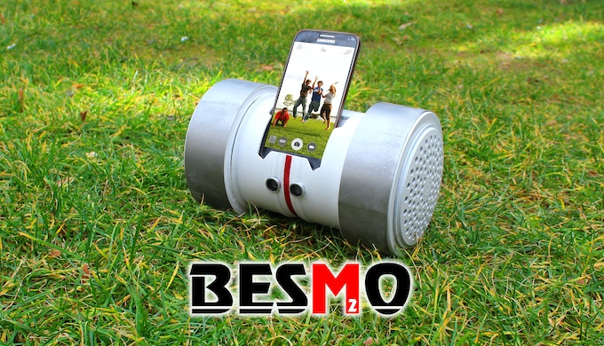 besmo robot in grass