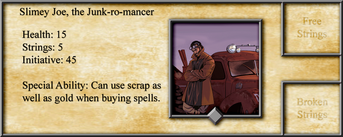 Alright, don't get mad but he's from the Metal Mayhem Expansion set. Consider it a teaser to go above and beyond our goals! Unlock the ability to use scrap as a new resource!
