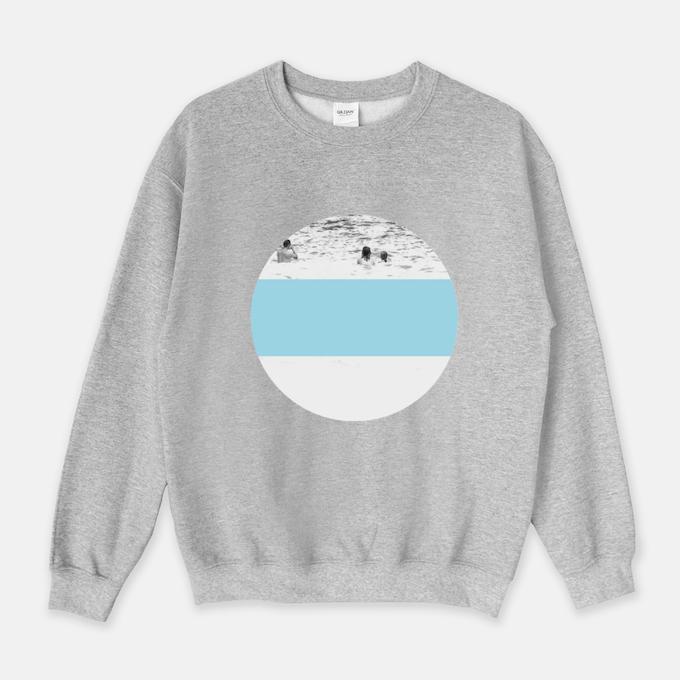 Swim sweatshirt in grey