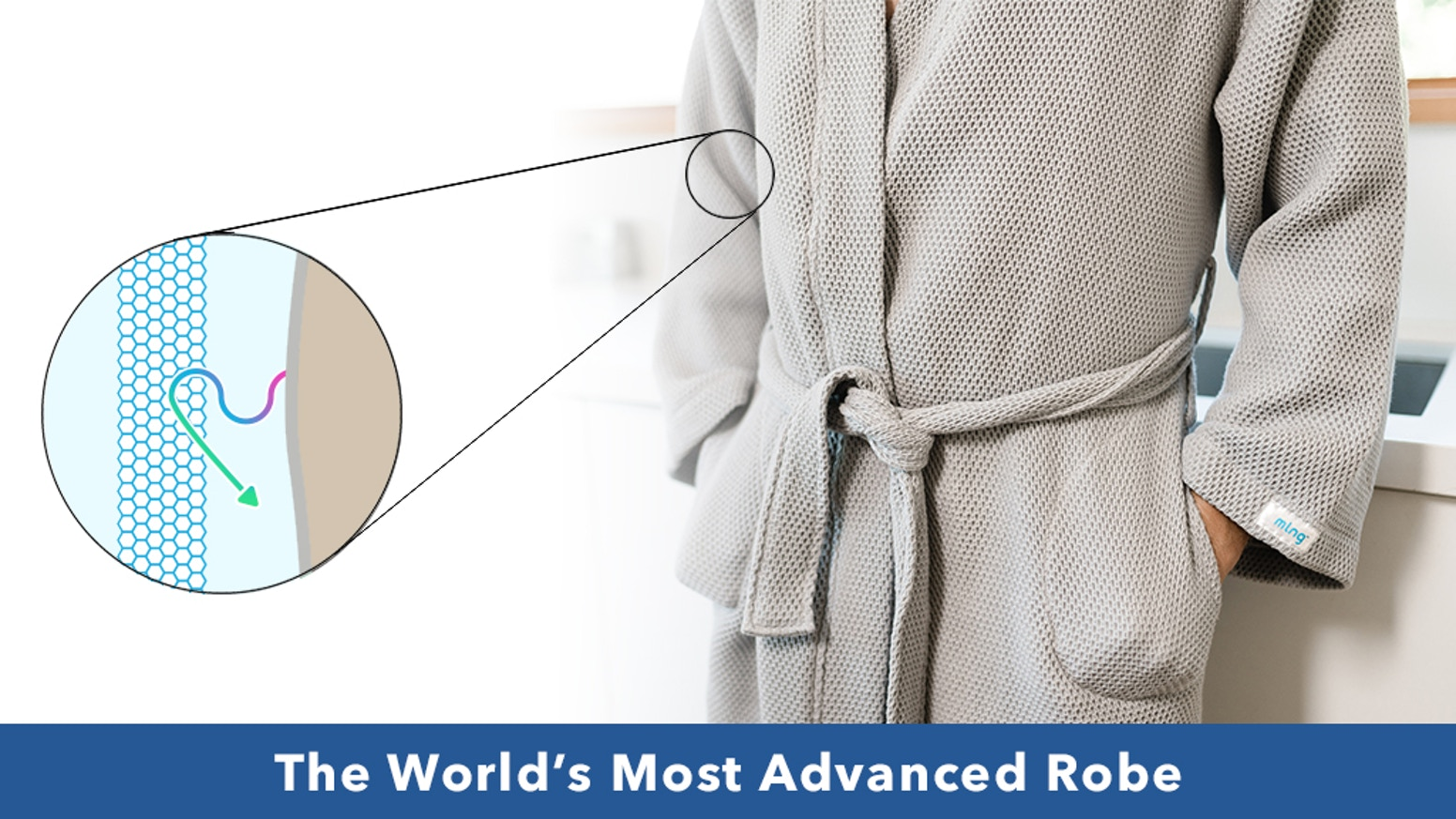 Achieve deep relaxation and faster recovery with Melange's new ultra comfy robe that is backed by science.