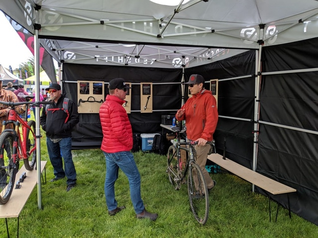 Inside the Redshift Tent at Sea Otter