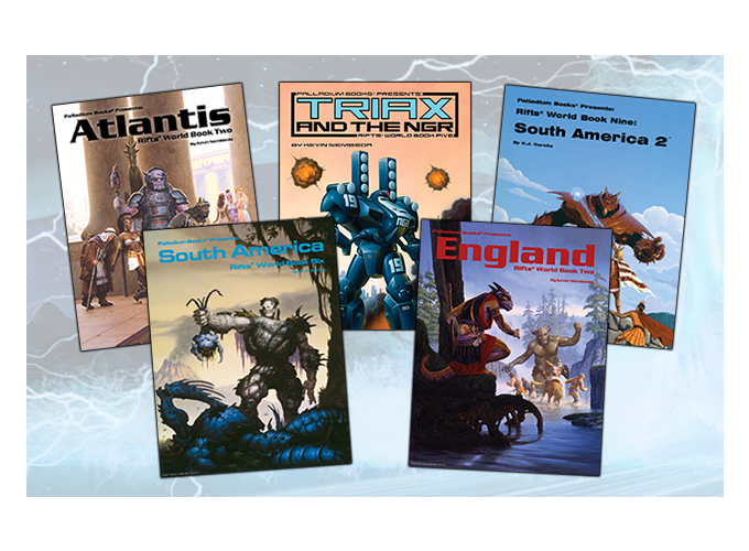 Covers courtesy of Palladium Books, Inc. These are used only for reference. For more information visit Palladium's website! Rifts® and Megaverse® are Registered Trademarks of Palladium Books, Inc. All character names and likenesses are copyright and trademarks owned by Palladium Books, Inc. and used under license.