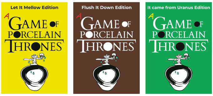 The 3 Editions side-by-side: Yellow, Brown, and Green