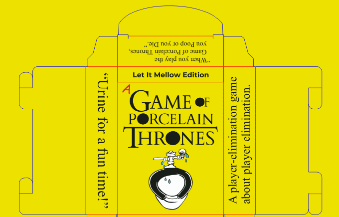 Design of the Yellow Edition tuck box