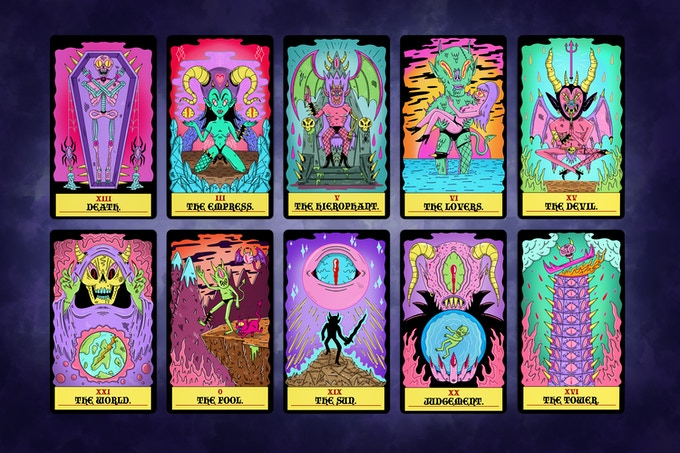 The Wizard's Tarot - Fully Illustrated Tarot Card Deck by