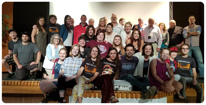 The current NORTHBOUND creative family at a September 2018 screening event in Upper Michigan