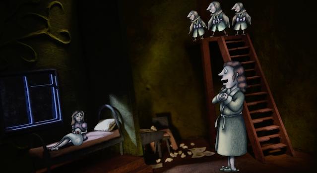 "Still from ""Mother's Song"" - featuring the voices of Dagmara Dominczyk, Florencia Lozano and Trio Limonāde: Iluta Alsberga, Ieva Katkovska and Kristīne Pastare"