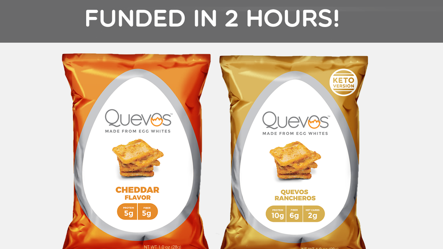 Quevos are high protein, low carb chips made from egg whites. Finally, a delicious snack you can feel great about eating!