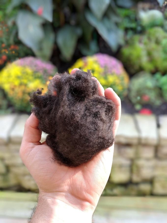 Dark Chocolate Yak Down Wool Fiber