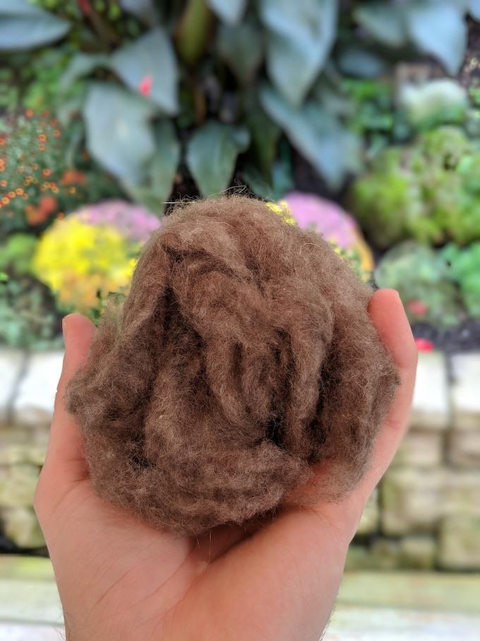 Milk Chocolate Yak Down Wool Fiber