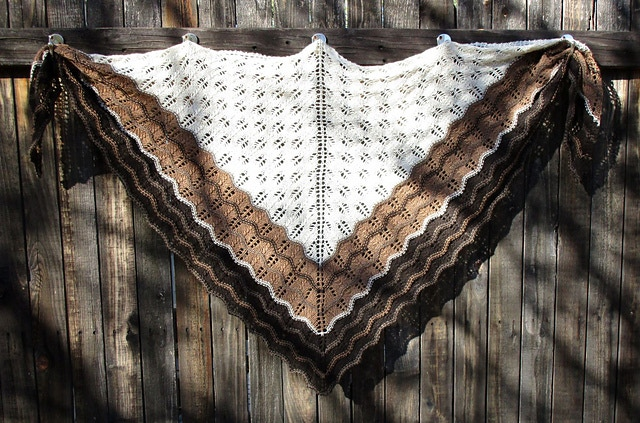 Incredible design by a Ravelry member with both yak colors and cream cashmere!