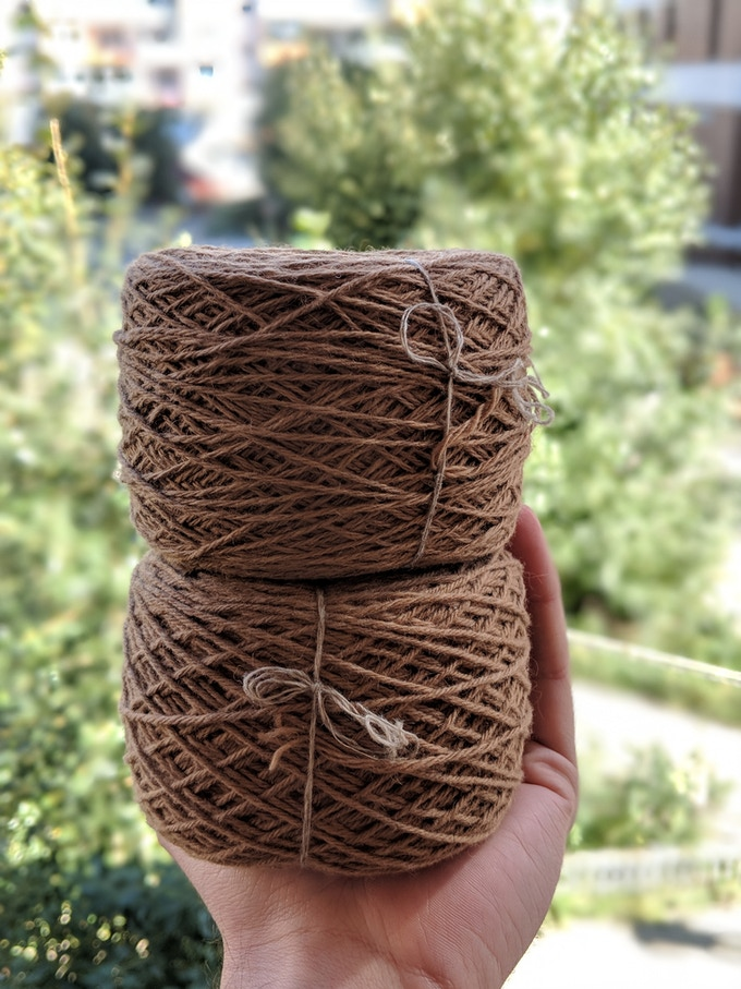 Fingering Weight (top) and DK Weight (bottom) Baby Camel Wool
