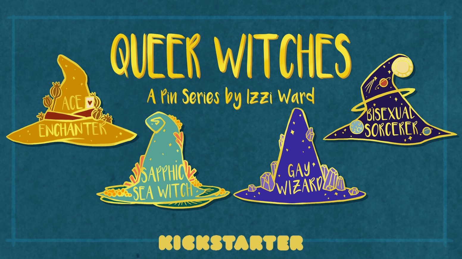 Queer Witches: An Enamel Pin Series by Izzi — Kickstarter