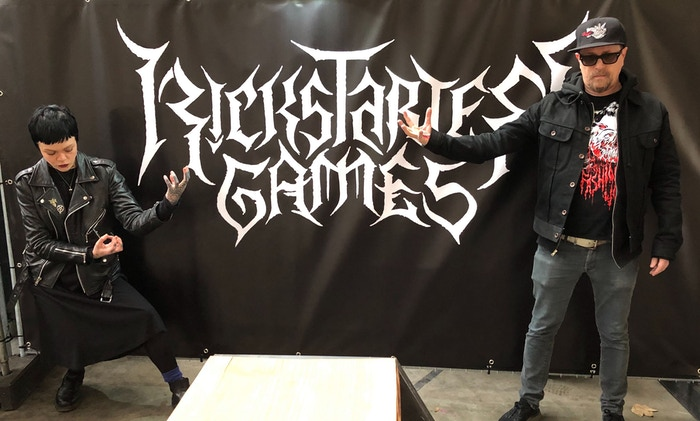 Meredith Graves, our director of music, and Luke Crane, our head of games, wielded frightful powers at the Roadburn Festival in the Netherlands last week. Our friend Christophe Szpajdel made this logo and now we have to get tattoos.