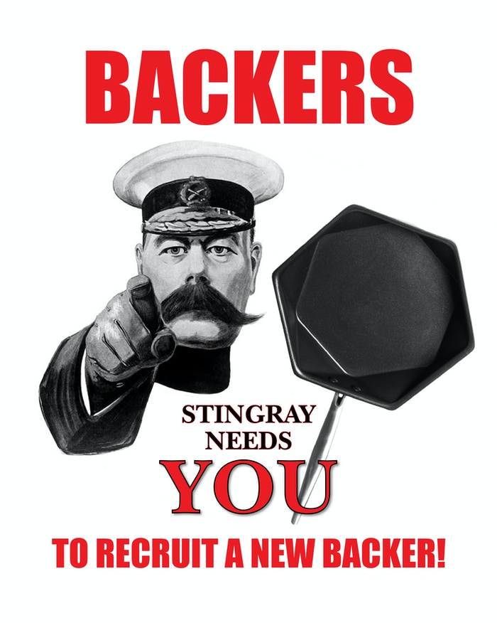 The Stingray needs your help to recruit a new backer!