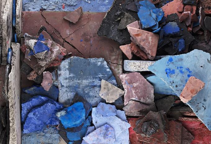 """(Untitled) Concrete Color Arrangement, 36"""" x 53"""""""