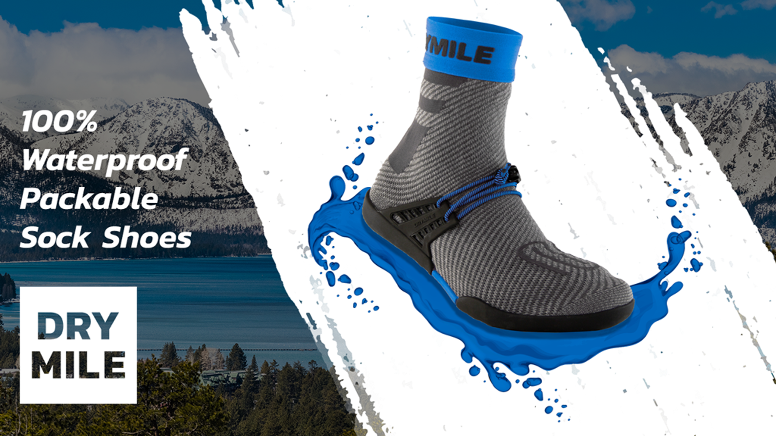 Flexible, comfortable, and waterproof slip-on shoes with amazing grip. With DRYMILE, you're ready for any weather, and any terrain.
