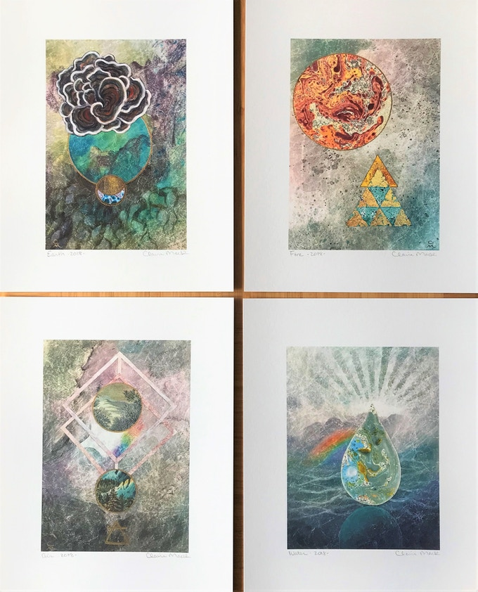 Set of 4 Elements prints