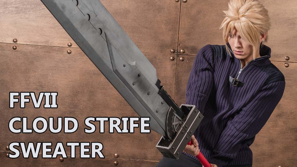 Project image for FFVII Cloud Strife Casual Cosplay Sweater