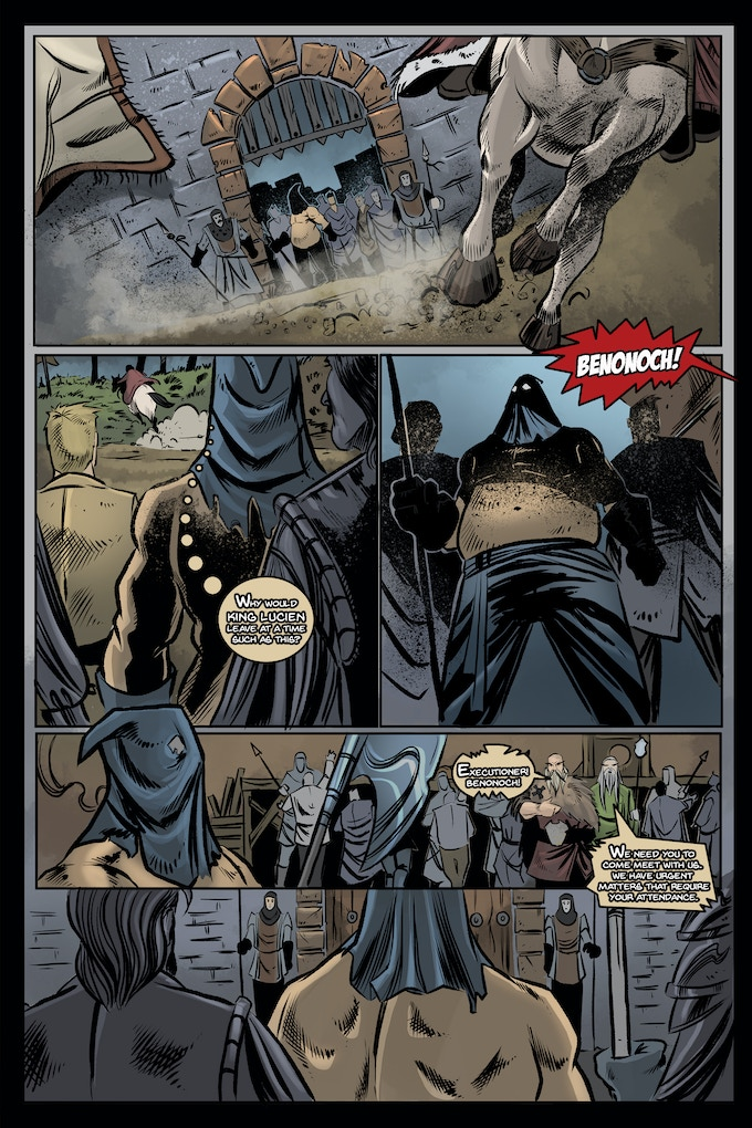 Lettered Version of Page ONE of Issue #1