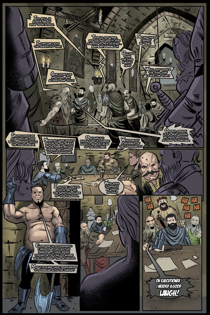 Lettered Version of Page TWO of Issue 1