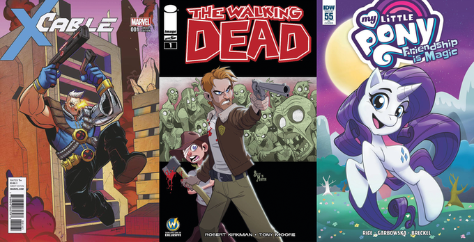 Billy's - X Cable cover, The Walking Dead #1 Variant and My Little Pony cover!