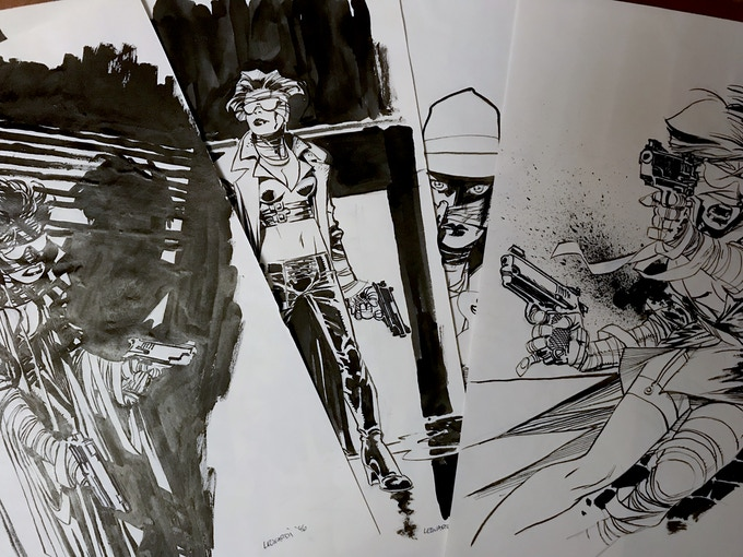 Some RICK LEONARDI  PAINKILLER JANE sketches for the gallery section.