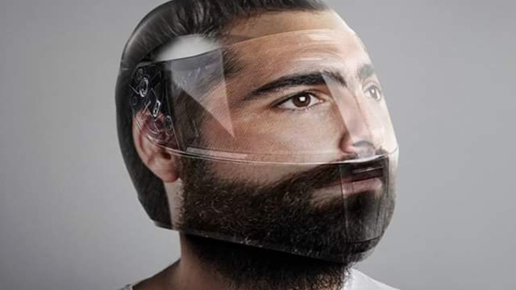 Project image for Head Helmet - Motorcycle Helmet with your face printed on it