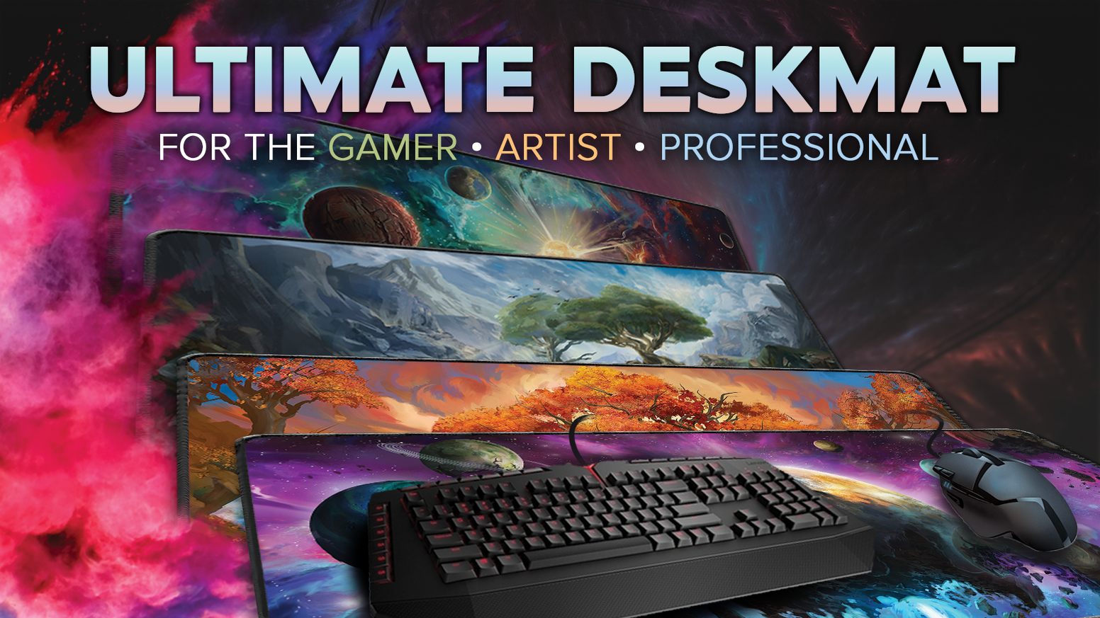 Treat your mouse and keyboard to a unique deskmat with high endurance polyester and stitched edges that will last you a lifetime.