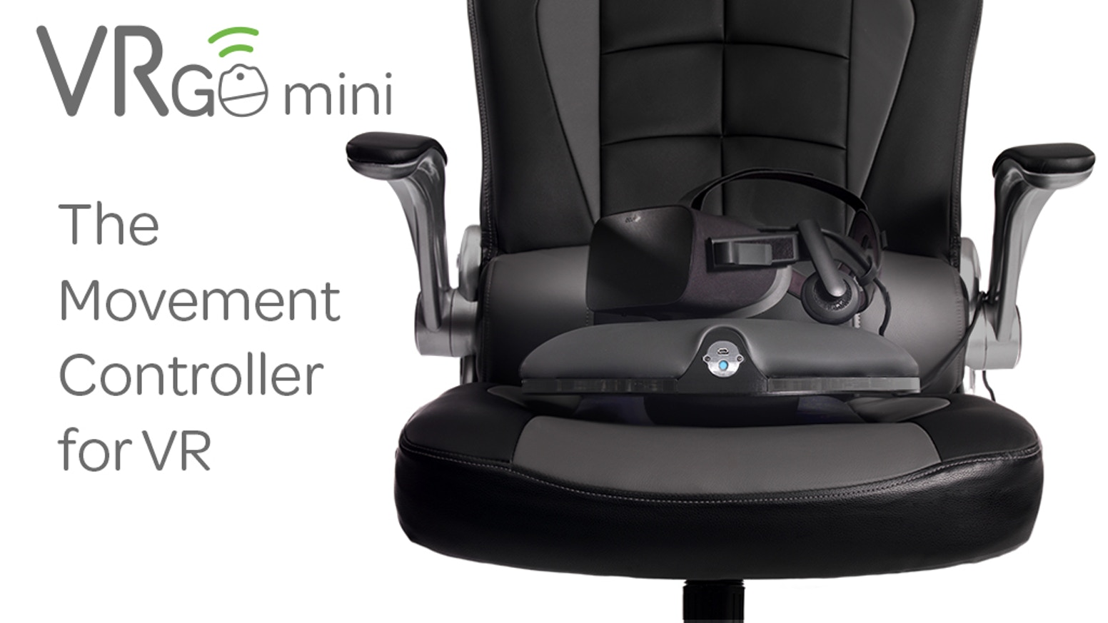The VRGO Mini is a smart device that helps you roam virtual worlds by simply tilting in the direction you want to travel.
