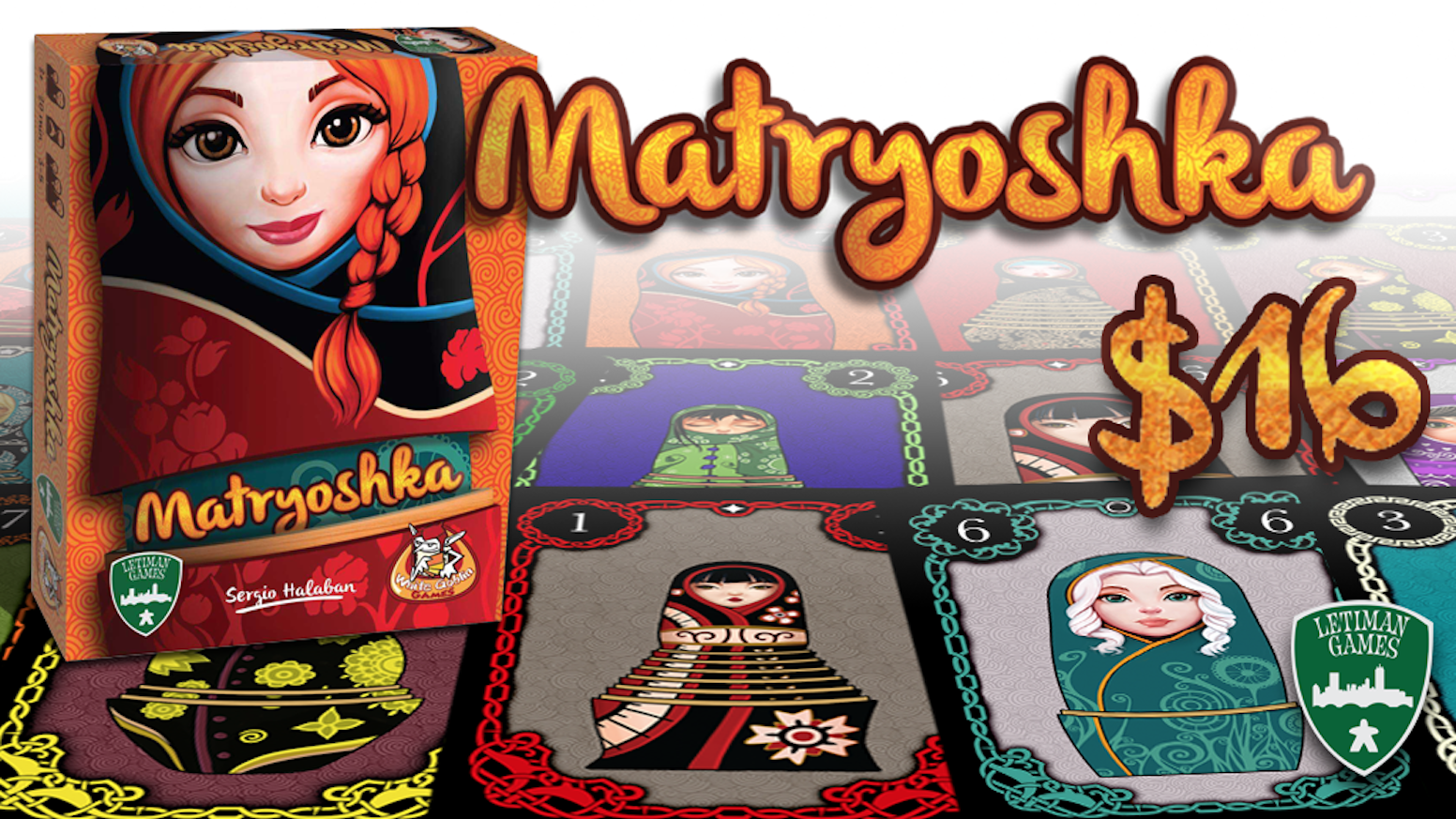 Matryoshka: A set-collection and trading game for 3-5 players! Updated artwork and new deluxe version with exclusive cards!
