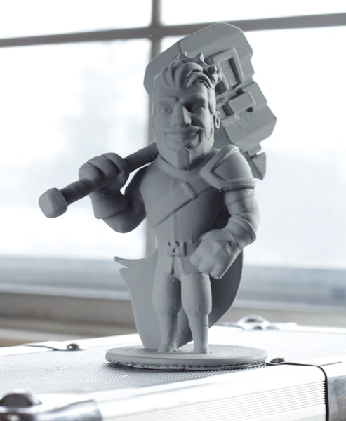 Check out Maximus in full on, real life 3D! Shown is the FDM 3D print version of Maximus from our first test print.