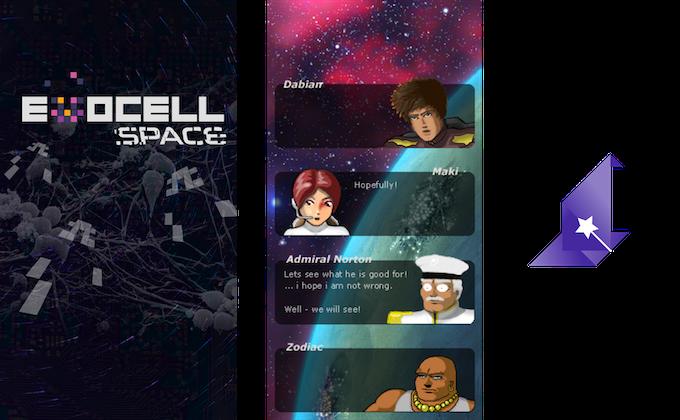 EvoCell Space Saga concept art