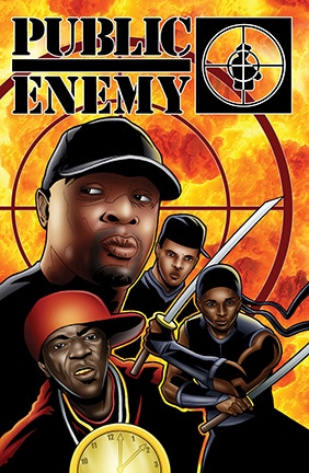 PUBLIC ENEMY tpb Volume 1 by Adam Wallenta and Chuck D