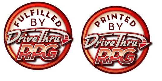 Digital rewards are fulfilled through Drivethrurpg.com / Physical copies are printed through Drivethru/lightning source unless we reach press run stretch goal.