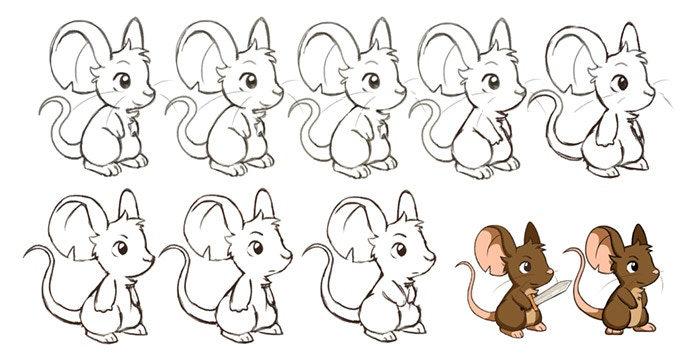 Steps for building the main mouse figure