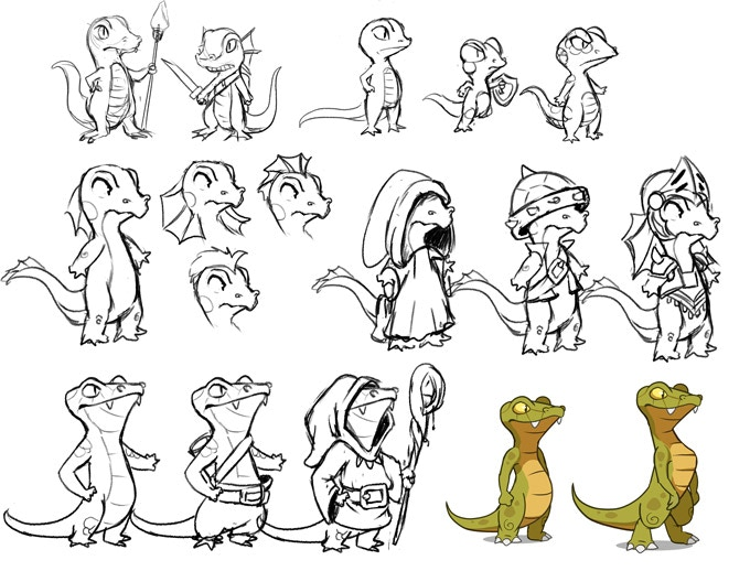 Researches for the lizards