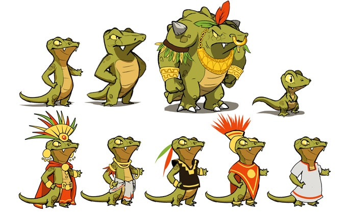 Researches for the lizards outfits and civilization