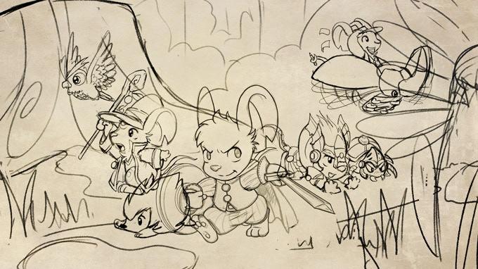 First splash art sketch