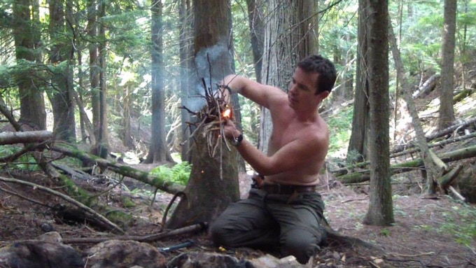 "Teaching fire-craft on my show, ""Surviving the Wild"" - Ep06 ""Lost Hiker"" 2013"
