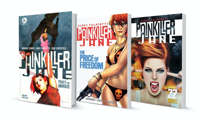 $55 PLEDGE gets you the Hardcover edition and the two trade books- all 3 signed by AMANDA CONNER & JIMMY PALMIOTTI