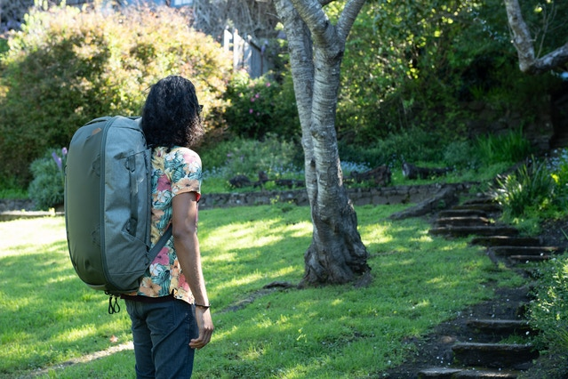 In it's standard state, the Duffelpack has 45L of hauling capacity. Same as the Travel Backpack in its fully expanded state.
