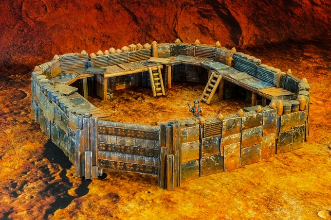 All about The Base Fort (28mm miniature not included)