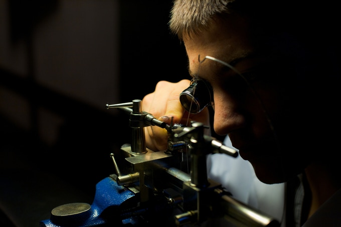 Hand crafting the cogs, balance wheel, pins and more, require top watchmaking artisans !