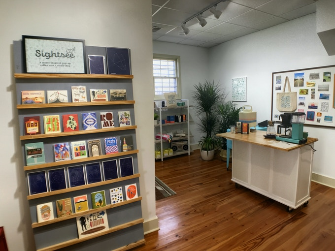 A glimpse at some of our initial retail offerings during our Outpost at Indigo & Cotton earlier this year
