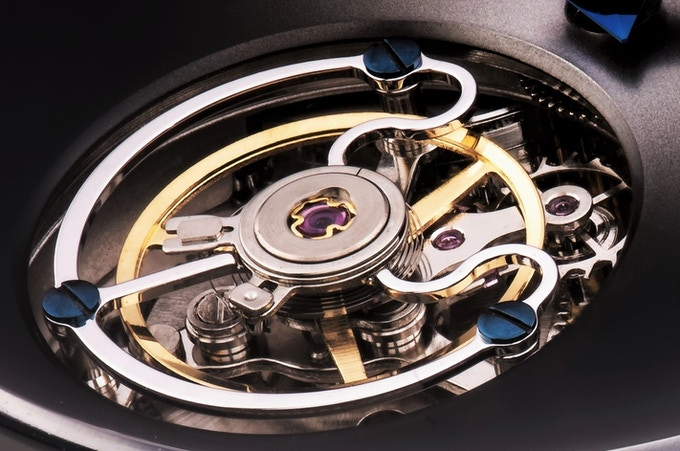 Prototype of the Astbury & Kent 27 Jewel flying tourbillon